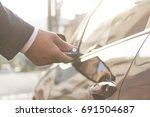 remote control key car    Shutterstock . vector #691504687