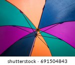 close up bottom view of a... | Shutterstock . vector #691504843