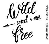 wild and free hand brush...