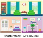 interior     living room ... | Shutterstock . vector #691507303