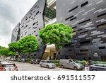 singapore   february 16  2017 ... | Shutterstock . vector #691511557