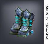 iron fantasy armor boots for... | Shutterstock .eps vector #691514053
