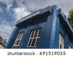 Small photo of Police call box in Glasgow Scotland, Tardis from Doctor Who.