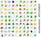 Stock vector  vital icons set in isometric d style for any design vector illustration 691526833