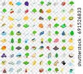 100 vital icons set in...   Shutterstock .eps vector #691526833