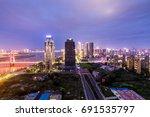 night view of chinese cities | Shutterstock . vector #691535797