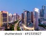 night view of chinese cities | Shutterstock . vector #691535827