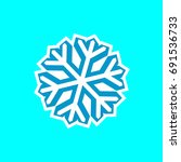 snowflake icon  isolated...