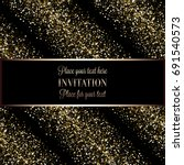 invitation or greeting card... | Shutterstock . vector #691540573