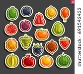 vector set icons of colorful... | Shutterstock .eps vector #691543423