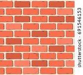 brick wall graphic  | Shutterstock .eps vector #691546153