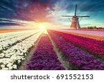 traditional netherlands holland ... | Shutterstock . vector #691552153