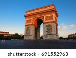 the famous triumphal arch  ... | Shutterstock . vector #691552963
