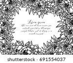 romantic invitation. wedding ... | Shutterstock .eps vector #691554037