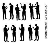 vector silhouettes man  various ... | Shutterstock .eps vector #691555027