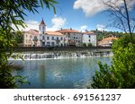 view of old city of tomar in...   Shutterstock . vector #691561237