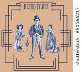retro party design with old... | Shutterstock .eps vector #691566217