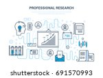 professional research. business ... | Shutterstock .eps vector #691570993