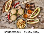 concept of eating outdoors....   Shutterstock . vector #691574857