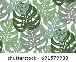 seamless pattern with trendy... | Shutterstock .eps vector #691579933