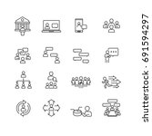people and communication icons... | Shutterstock .eps vector #691594297