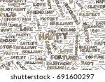 happy  illustrations of... | Shutterstock .eps vector #691600297