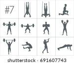 crossfit concept. vector... | Shutterstock .eps vector #691607743
