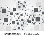 abstract tech background.... | Shutterstock .eps vector #691612627