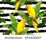 beautiful seamless vector... | Shutterstock .eps vector #691620637