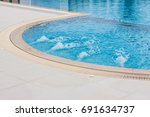 swimming pool. | Shutterstock . vector #691634737