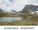 high altitude landscape in... | Shutterstock . vector #691643107