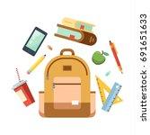 back to school. big vector... | Shutterstock .eps vector #691651633