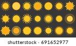 sun collection vector icon ... | Shutterstock .eps vector #691652977