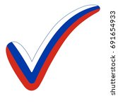 check mark style russia flag... | Shutterstock .eps vector #691654933