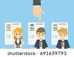 hiring the candidate. hand... | Shutterstock .eps vector #691659793