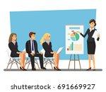 business seminar  vector... | Shutterstock .eps vector #691669927