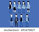 people of different gender  | Shutterstock .eps vector #691670827