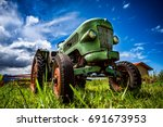 Old Tractor In The Alpine...