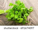 parsley leaves | Shutterstock . vector #691674097