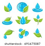 water icon set. vector | Shutterstock .eps vector #691675087