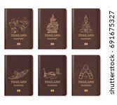 thailand passport  thailand... | Shutterstock .eps vector #691675327