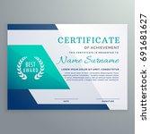 blue certificate design