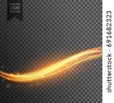 golden light streak transparent ... | Shutterstock .eps vector #691682323