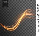 transparent light effect with... | Shutterstock .eps vector #691682353