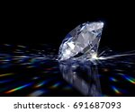 sparkling light blue round...   Shutterstock . vector #691687093