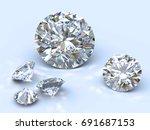 five round brilliant cut...   Shutterstock . vector #691687153