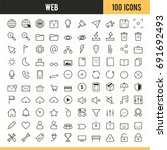 web icons. vector illustration. | Shutterstock .eps vector #691692493