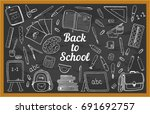 Stylized Blackboard With Many...