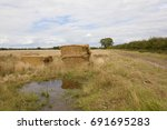 Leftover Straw Bales Near A...