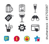 alcoholic drinks icons....